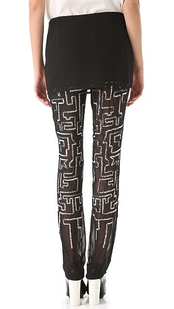 3.1 Phillip Lim Maze Overlay Pants