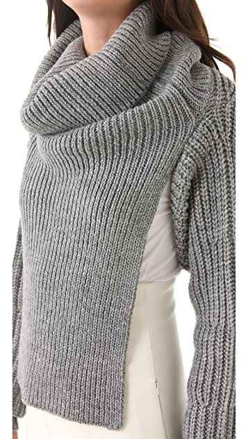 3.1 Phillip Lim Ribbed Funnel Neck Shrug