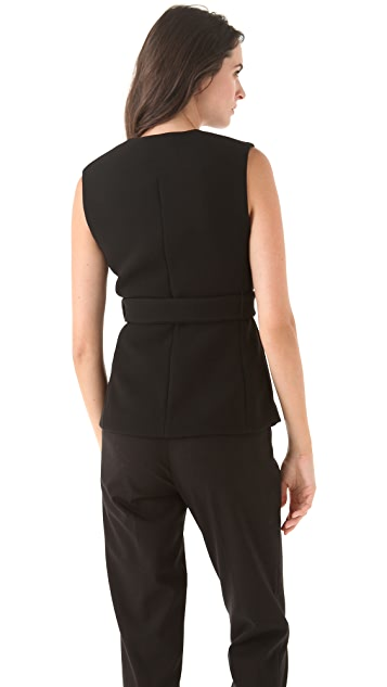 3.1 Phillip Lim Seamed Lapel Belted Vest