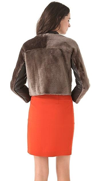 3.1 Phillip Lim Fur Moto Jacket