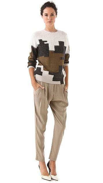 3.1 Phillip Lim Digital Brindle Intarsia Pullover