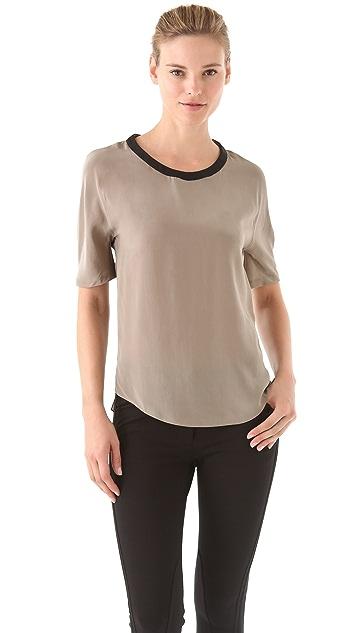 3.1 Phillip Lim Leather Trim T-Shirt