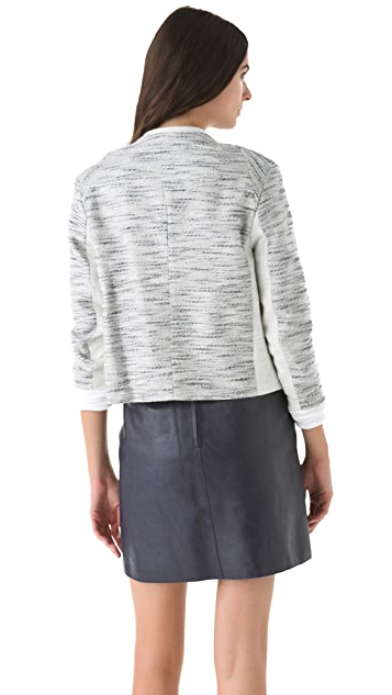 3.1 Phillip Lim Notch Sleeve Melange Jacket