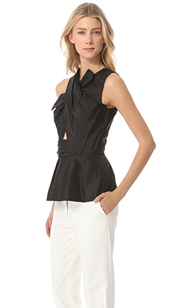 3.1 Phillip Lim Asymmetric Peplum Top