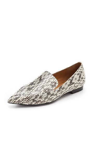 3.1 Phillip Lim Spade Snake Loafer Flat