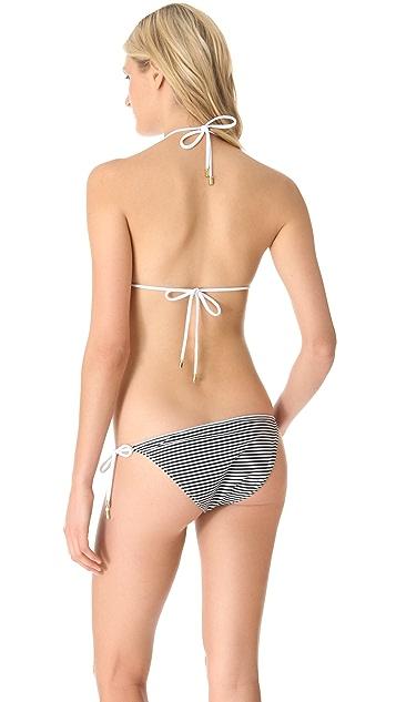 3.1 Phillip Lim Triangle Bikini Top with Ties