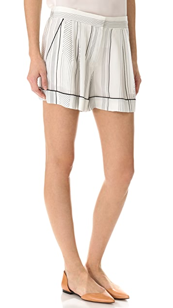 3.1 Phillip Lim Pajama Piped Shorts