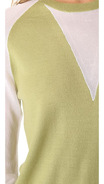 3.1 Phillip Lim Sheer Sleeve Sweater