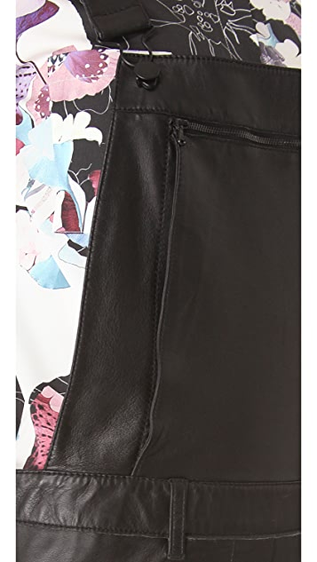 3.1 Phillip Lim Leather Overalls