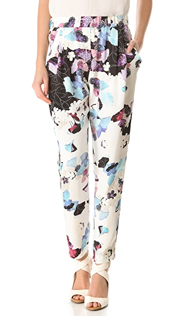 3.1 Phillip Lim Scrapbook Floral Draped Trousers