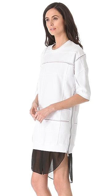 3.1 Phillip Lim Cut Up Sweater Dress
