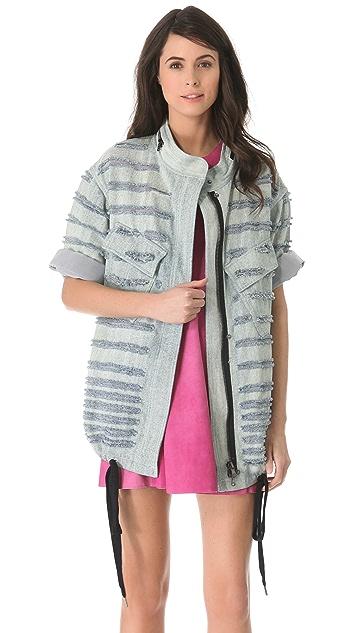 3.1 Phillip Lim Bleached Shredded Utility Jacket