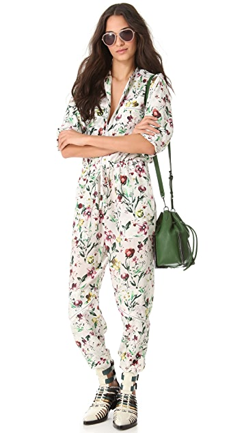 3.1 Phillip Lim Faded Botanical Flight Suit