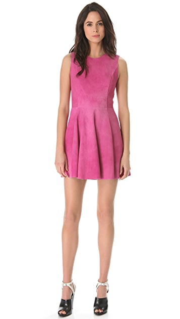 3.1 Phillip Lim Watercolor Suede Flared Dress