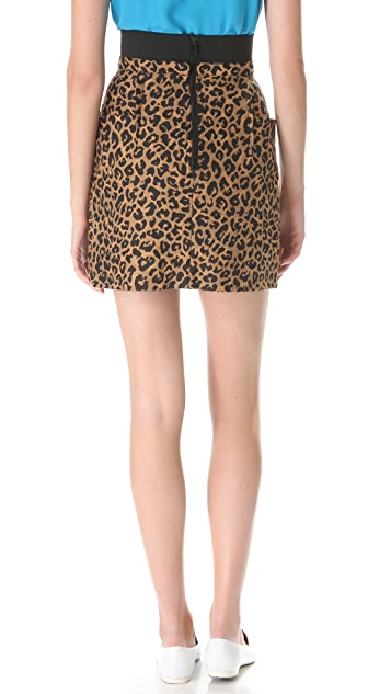 3.1 Phillip Lim Leopard Side Pocket Skirt
