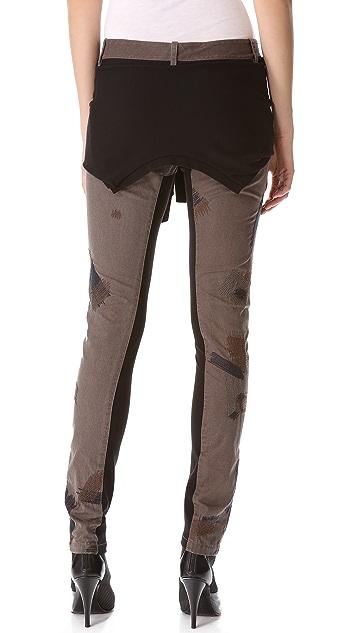 3.1 Phillip Lim Repair Stitch Skinny Pants with Tie Waist