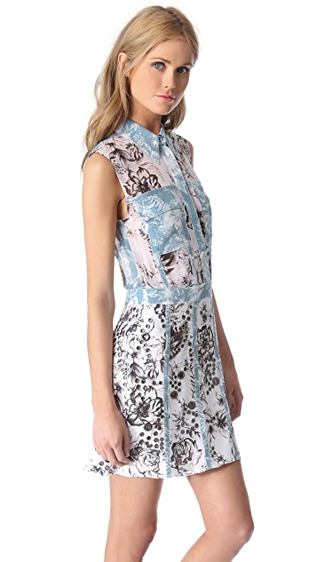 3.1 Phillip Lim Floral Eyelet Grommet Dress