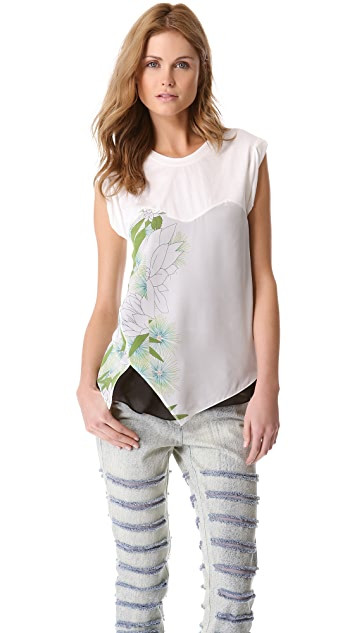 3.1 Phillip Lim Distorted Chrysanthemum Layered Top