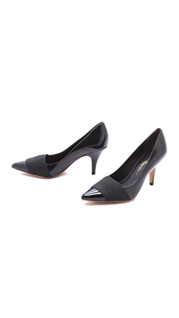 3.1 Phillip Lim Dove Kitten Heel Pumps