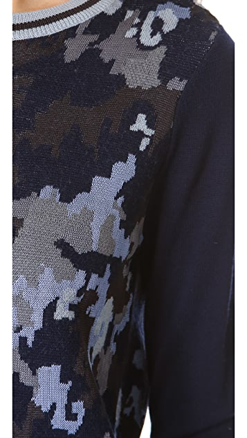 3.1 Phillip Lim Double Knit Camo Pullover