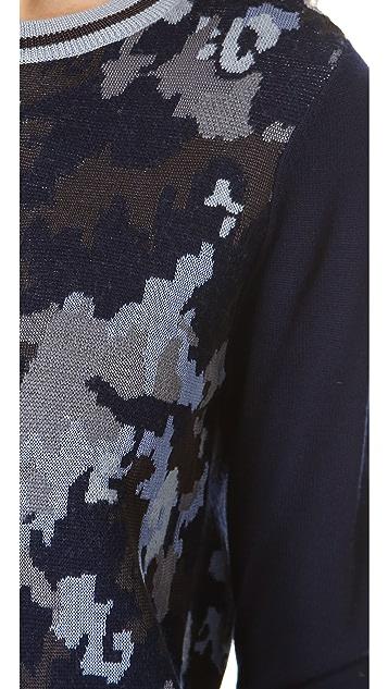 3.1 Phillip Lim Double Knit Camo Pullover