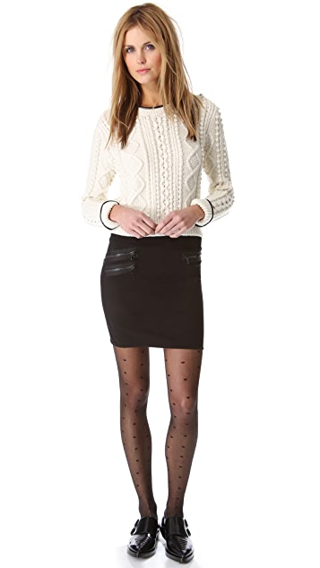 3.1 Phillip Lim Zip Miniskirt with Ribbed Waist