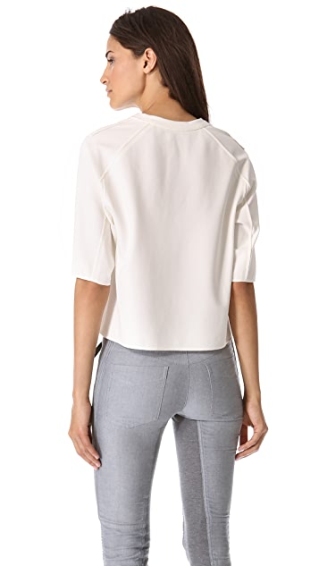 3.1 Phillip Lim Boxy Tee with Silk Binding