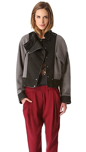 3.1 Phillip Lim Felt Jacket with Neoprene