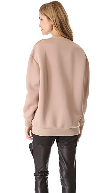 3.1 Phillip Lim Multi Zip Oversized Sweatshirt
