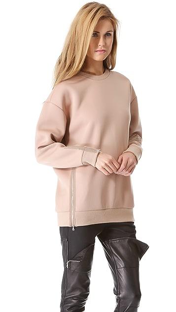 3.1 Phillip Lim Multi Zip Oversized Sweatshirt