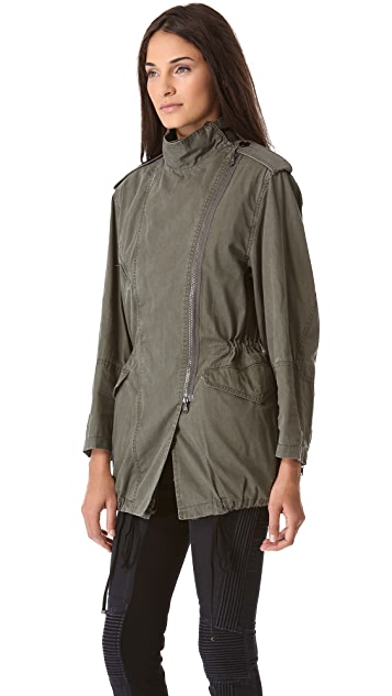3.1 Phillip Lim Layered Parka with Detachable Rabbit Lining