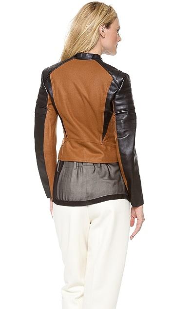 3.1 Phillip Lim Felt Peplum Moto Jacket