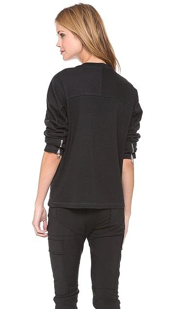 3.1 Phillip Lim Sculpted Gem Crest Sweatshirt