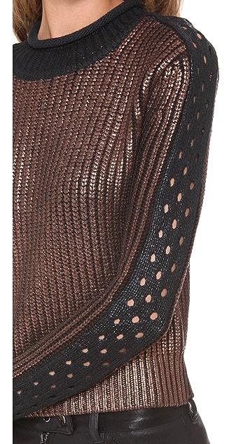 3.1 Phillip Lim Metallic Printed Pullover