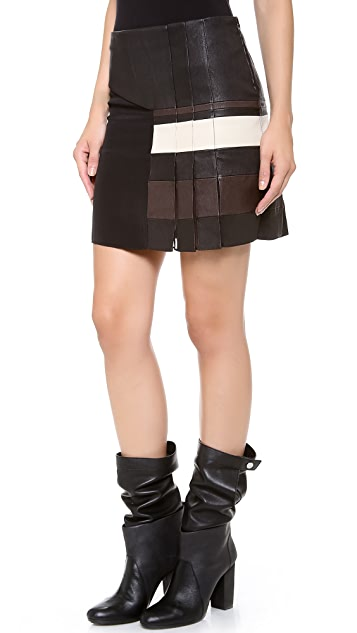 3.1 Phillip Lim Striped Pleat Skirt