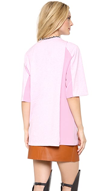 3.1 Phillip Lim Layered Tee with Beaded Collar