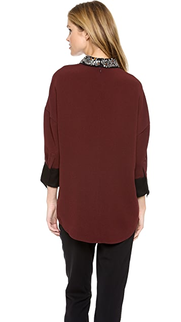 3.1 Phillip Lim Back to Front Beaded Top