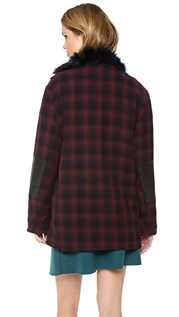 3.1 Phillip Lim Asymmetrical Coat with Detachable Collar