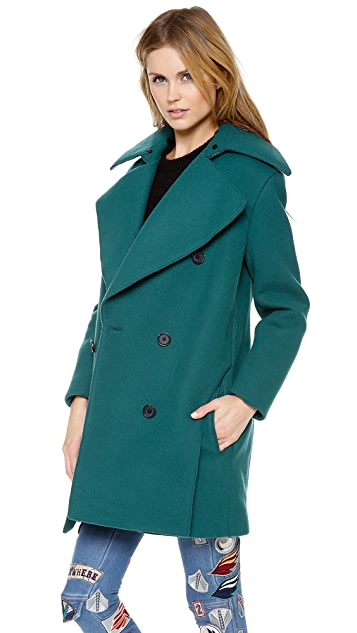 3.1 Phillip Lim Pea Coat with Detachable Collar