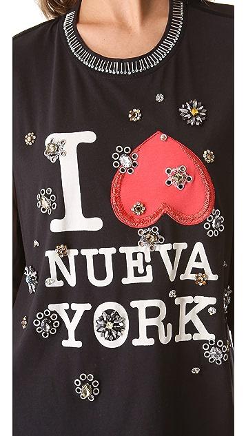 3.1 Phillip Lim Embellished Nueva York Tee