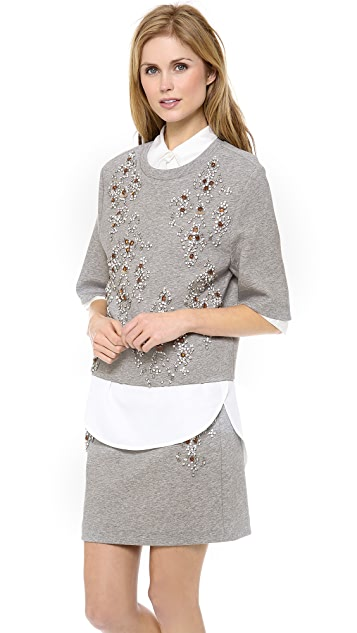 3.1 Phillip Lim Embellished Crop Box Tee