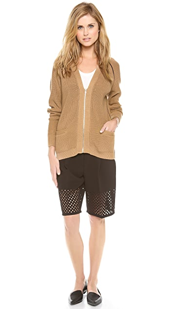 3.1 Phillip Lim Piped Zip Cardigan