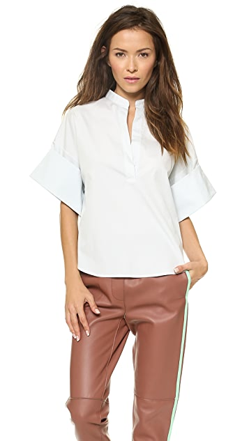 3.1 Phillip Lim Collarless Oversized Shirt