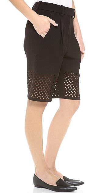 3.1 Phillip Lim Laser Cut Walking Shorts