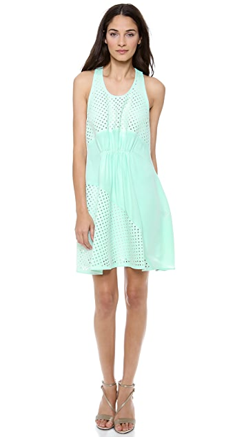 3.1 Phillip Lim Laser Cut Gathered Dress