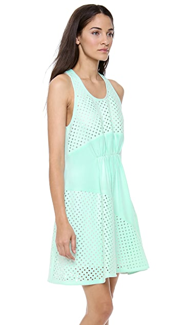 3.1 Phillip Lim Laser Cut Gathered Dress