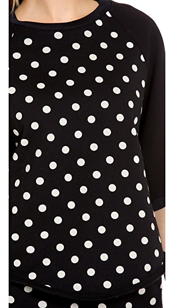 3.1 Phillip Lim Contrast 3/4 Sleeve Top
