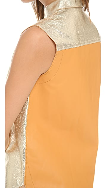 3.1 Phillip Lim Sleeveless Leather Top