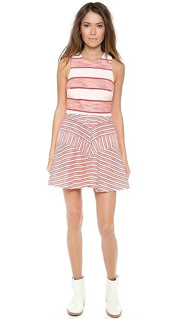3.1 Phillip Lim Sleeveless Dress with Full Skirt & Insets
