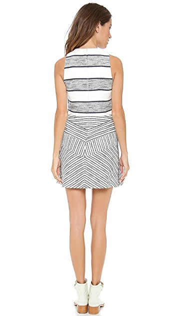 3.1 Phillip Lim Sleeveless Dress with Full Skirt & Insets